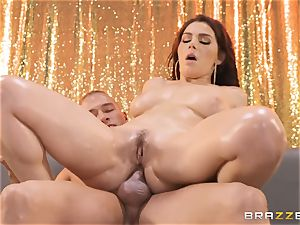 Valentina Nappi slips on the beef whistle of Xander