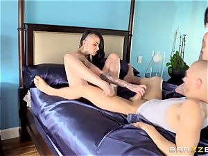 amazing pornography 3 way with inked punks Leigh Raven, Nikki Hearts and Xander Corvus