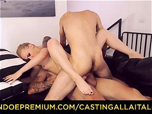 CASTNG ALLA ITALIANA - platinum-blonde vixen rough dp intercourse