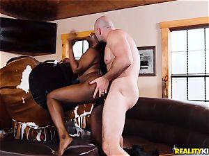 black cowgirl Skyler Nicole rails JMacs enormous pink cigar