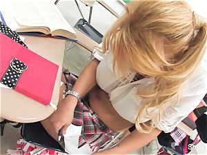 Bad schoolgirl Shyla gets romped by her lecturer