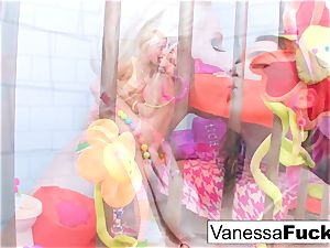 huge-chested Natasha cute bangs Vanessa cell